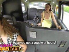 Fake Taxi Femmina Sborrata scioccata di essere vuole un ultimo fuga lesbica