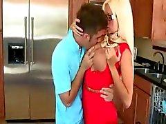 Rikki Six caught BF and stepmom Nikita Von James having sex