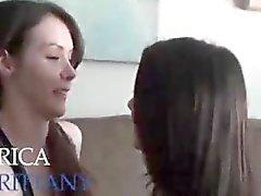 Brunette lesbians teens performing hot 69 oral