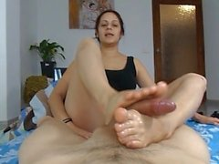 Auntie Giving a Footjob