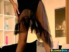 Skinny Blonde Babe Getting Fucked