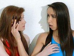 Hairy lesbians in nylon pants penetrate