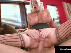Busty Blonde Puma Swede Fucks Talon & Gets A Hot White Load!