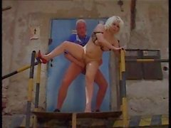 Horny chubby granny is getting it from her dude and gets a facial