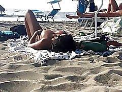 Sexy Italian Milfs topless sunbathing