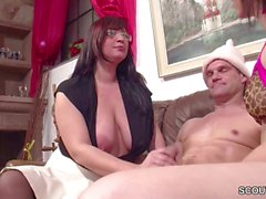 Real German Couple in Female MILF Casting Lucy Cat