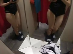 BF Cum in my mouth in a store's dressing room