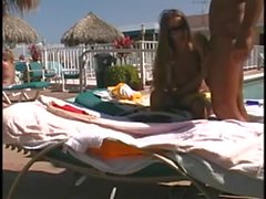 Horny Penetration in Public poolside