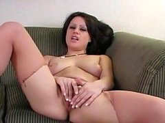 Reality masturbation by sexy Linda