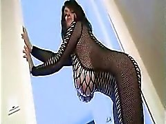 Horny Human Milky Cow in Tight Fishnet