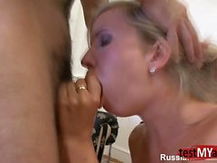 Russian pornstar anal with anal cumshot