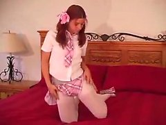 Cute Teen In Tights JOI