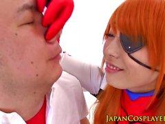 Japanese babe Evangelion pussylicked