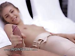 Unique hole in her panties for coitus