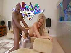 Extremely nice blond Bree Olson loves when fat dick is hard