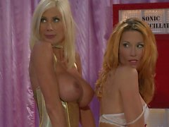 Busty lesbians Jessica Drake and Puma Swede in hot Porn parody
