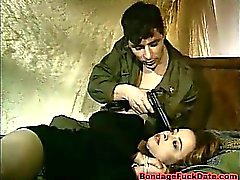 Horny Soldier Bondage Her And Fucks Her Ass