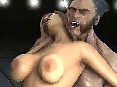 Pechugón bebé la historieta 3D de de ser jodida Wolverine