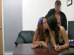 Ambush Threesome At The Office