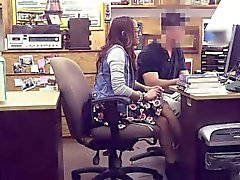 Student needs cash gets banged in the pawnshop office