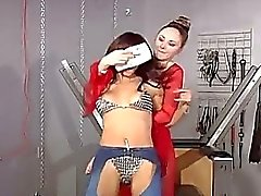 Hot brunette is abducted and bound