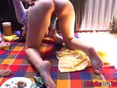 Aussie rips pantyhose