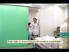 Rio Горячие азиатские медсестрой получает голые и играет