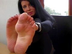 Mature stinky feet