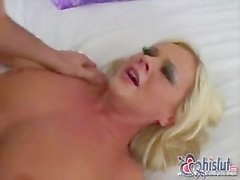 lucky guy makes love with Bree Olson on bed