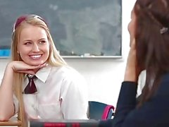 InnocentHigh - Hot Schoolgirls Experiment and Have Threesome