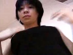 Bigtitted asian teen pounded by two dudes
