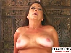 Gorgeous Girlfriend Mom Karen De Ville Gives Handjob Well Touching Stepson