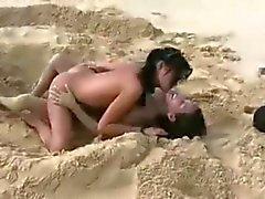 Amia och Tanner - Söt tonåringar ha kul på en nakenbad
