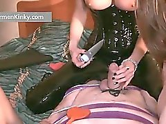 Kinky Carmen and two huge babes get part1