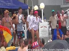 Fun Loving Girls Partying Naked at Pool Party Dantes in Key West Florida