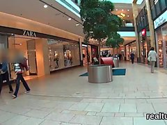 Stellar czech teen gets teased in the mall and shagged in po