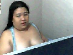 gli spettacoli chubby filippine mom Rowena Sotito schifo suoi seni