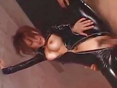 Busty Girl In Latex Dress Fucked Squirting While Fingered Facial Sucking Cock On The Bed