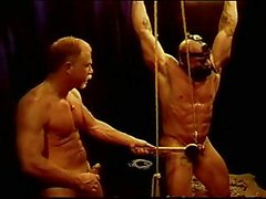 CBT Huge bodybuilder ball bashing.