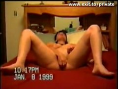Dildo orgasm my ex Wife Norah in 1999