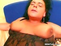 Hot black lingerie on hot chubby body part1