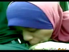 Indonesian Hijab suck
