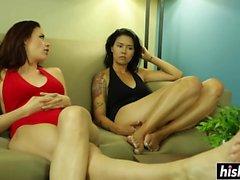 Dana ja Chanel tutkia toistensa tunnelit