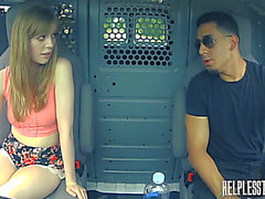 Dolly little humiliated in a stranger's car