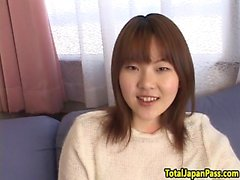 Pussyfucked asian teen spreads legs for cock