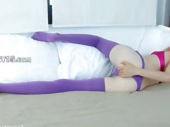 unbelievable purple lingerie