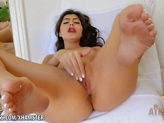 Audrey Royal lovingly rubs her pussy