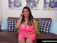 Kuubalainen BBW Angelina Castro Pora-koiran tyyliin Lucky Cock!