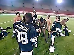 Cheerleader Gang Banged By An Entire Football Team