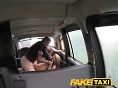 FakeTaxi Swingers couple get it on in back of taxi